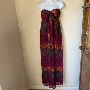 Xhilaration Multi Tie Tribal Maxi Dress